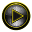 Poweramp skin  STEEL I. Yellow 1.41 APK for Android