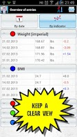Screenshot of Dynamic Weight & Body Tracker