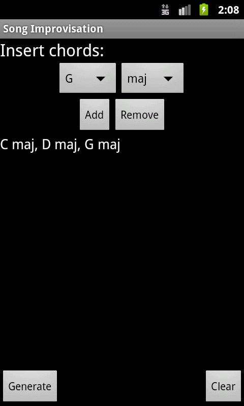 Song Improvisation- screenshot