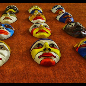 Masks by Pritam Saha - Artistic Objects Other Objects ( color, artistic, photo,  )
