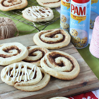 Cinnamon Roll Sugar Cookies with Cream Cheese Icing.