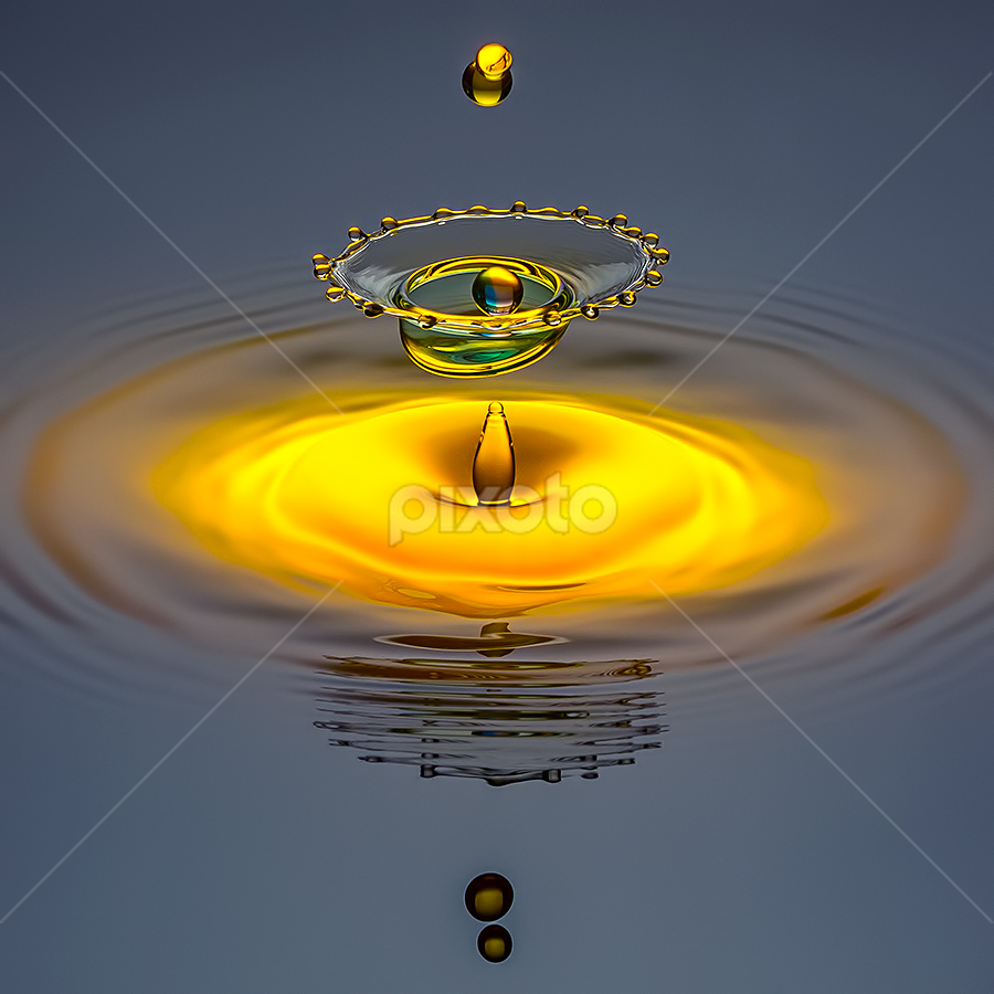 Curse of Golden Pearl by Ganjar Rahayu - Abstract Water Drops & Splashes ( waterdrop )