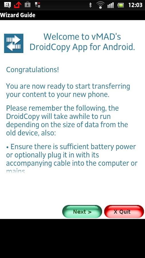 Droid Copy Lite - screenshot