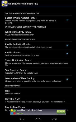 Whistle Phone Locator screenshot