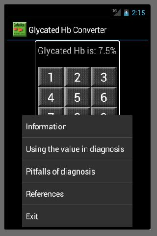 Glycated Hb Converter - screenshot