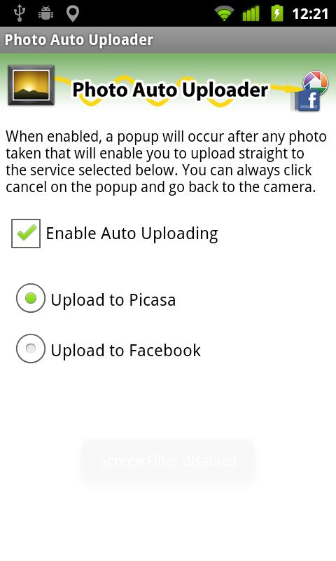 Photo Auto Uploader - screenshot