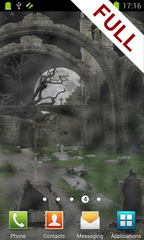 Scary Cemetery Live Wallpaper - screenshot