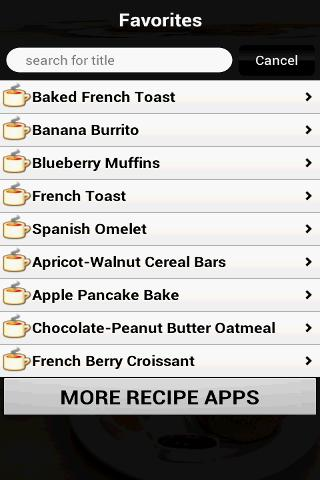 Breakfast Recipes Cookbook- screenshot