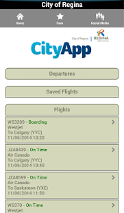 City of Regina CityApp- screenshot thumbnail