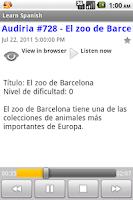 Screenshot of Spanish Podcasts