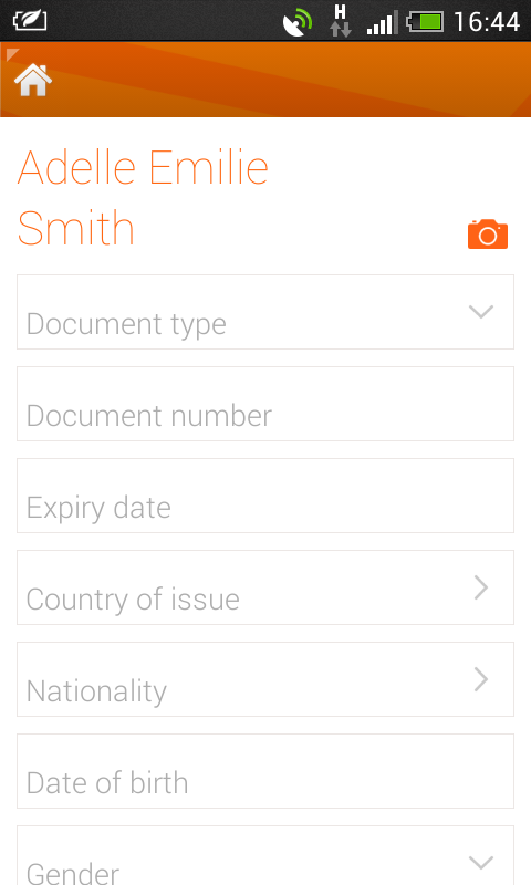 easyJet - screenshot