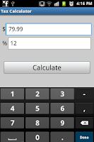 Screenshot of Tax Calculator