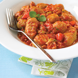 Sweet Potato Gnocchi with Bolognese Sauce.