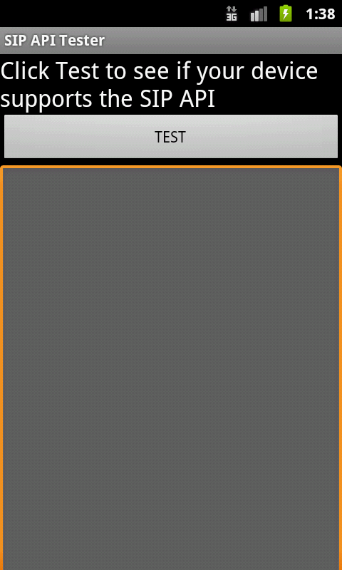 SIP API Tester - screenshot