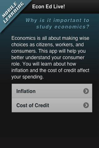 Econ Ed Mobile- screenshot