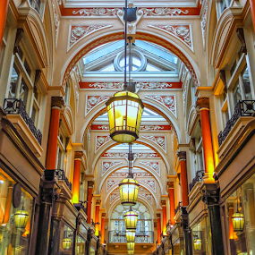 The Royal Arcade by Giancarlo Bisone - Buildings & Architecture Architectural Detail ( lamps, england, london, gallery, arcade )