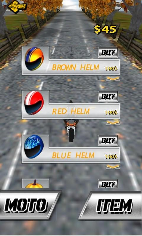 Screenshots of SpeedMoto for Android