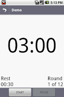 Screenshot of myTraining Timer