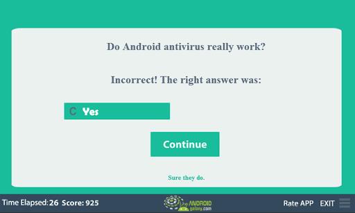 玩免費益智APP 下載Antivirus Quiz app不用錢 硬是要APP