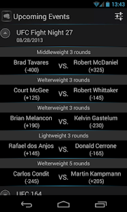 MMA Odds - screenshot thumbnail