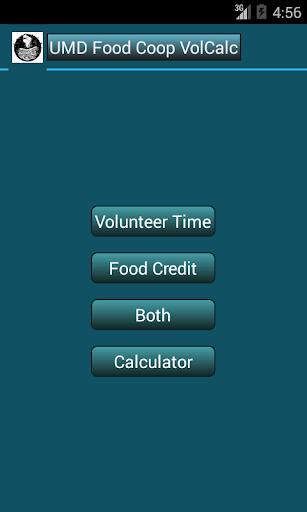 UMD Food Coop Volunteer Calc