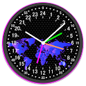 24 Hour Analog World Clock