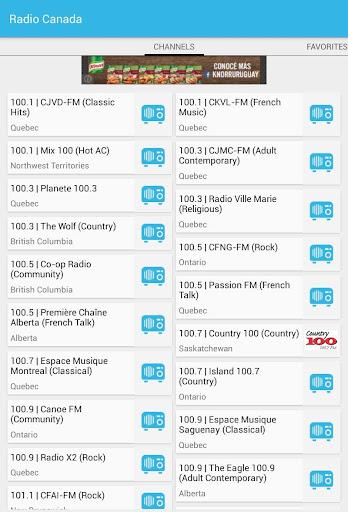 Radios de Canada