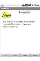 Screenshot of You're an Iowegian If....