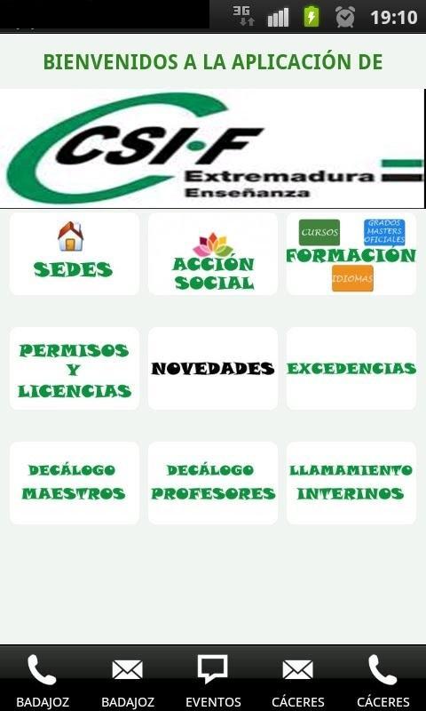 CSIF ENSEÑANZA EXTREMADURA - screenshot