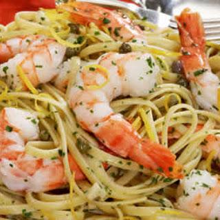 Shrimp Scampi with Linguine.