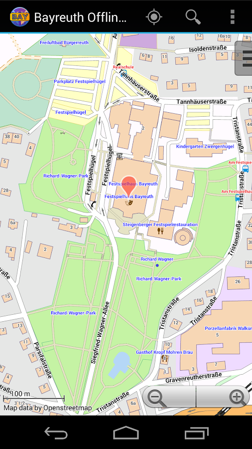 Bayreuth Offline City Map- screenshot