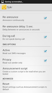 Call  & SMS Announcer - Spkr v2.5