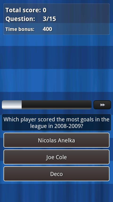 Chelsea FC Football Quiz - screenshot