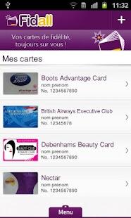Fidall cartes de fidélité - screenshot thumbnail