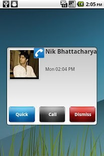 Missed Call and SMS Popup- screenshot thumbnail