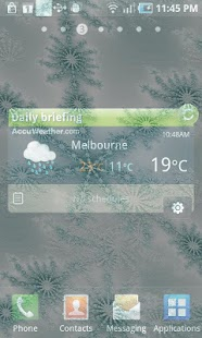 Winter Snowflake Theme Live - screenshot thumbnail