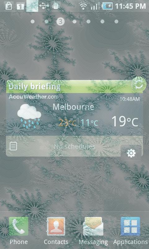 Winter Snowflake Theme Live- screenshot