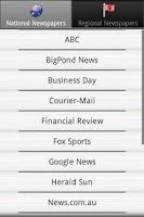 Screenshot of Newspapers AU PRO Australian