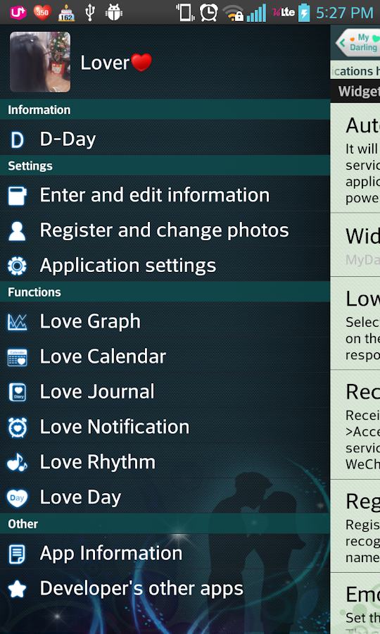 MyDarling - Couple Application- screenshot
