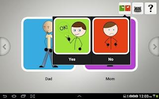 Screenshot of Quick Talk AAC