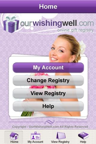 OurWishingWell Gift Registry - screenshot
