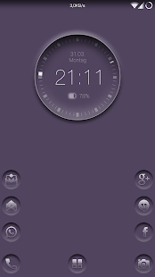 Smart clock zooper widget- screenshot thumbnail