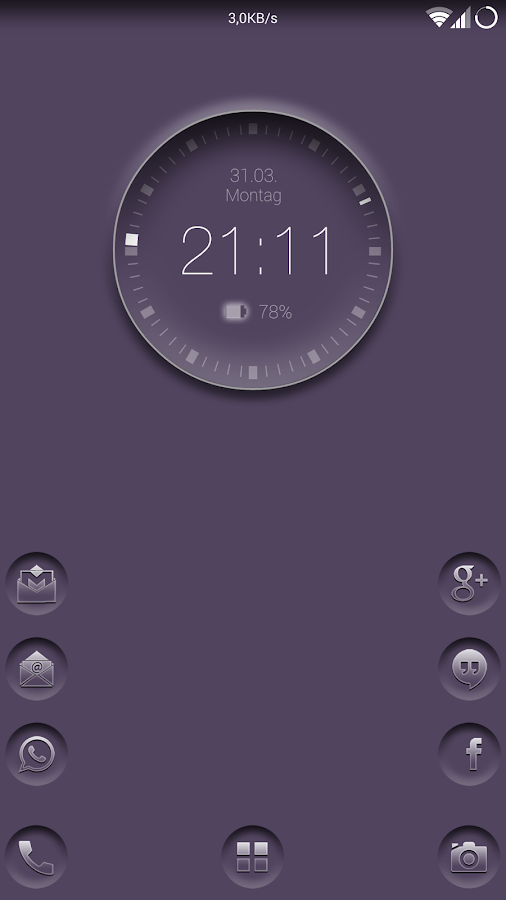 Smart clock zooper widget - screenshot