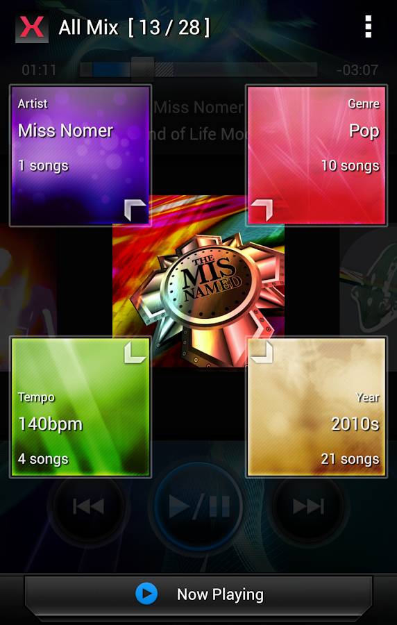 MIXTRAX App - screenshot