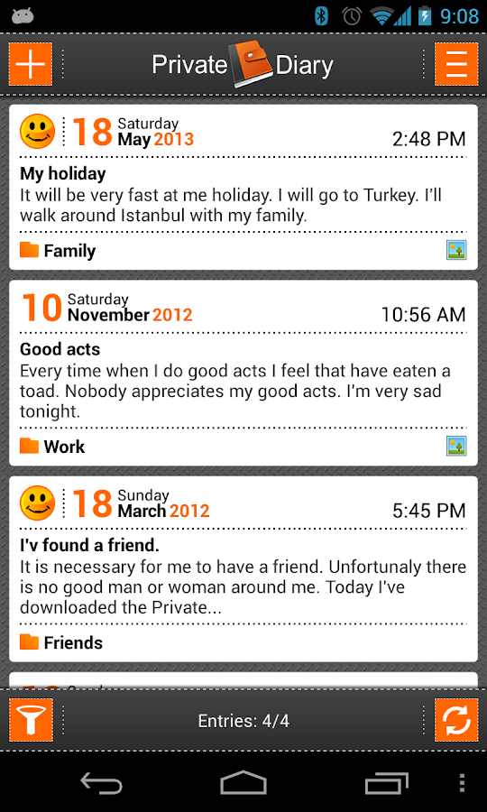 Private DIARY - screenshot