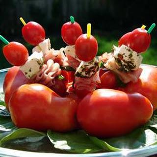 Mozzarella and Tomato Appetizer.