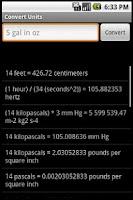 Screenshot of Convert Units