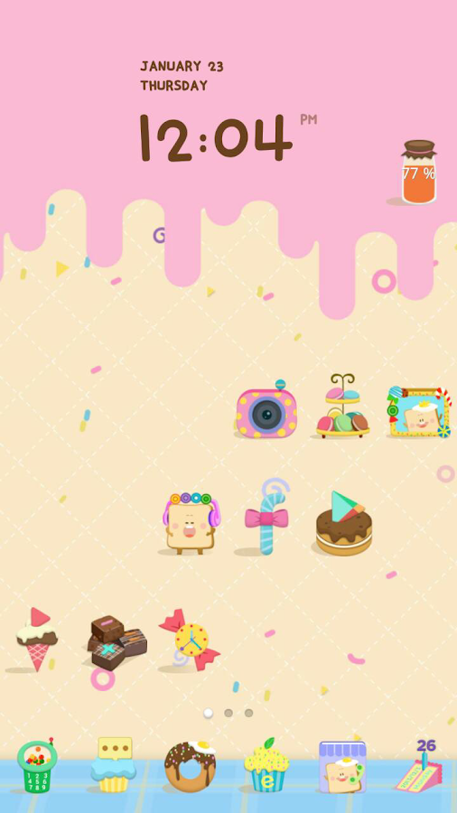Candy house dodol theme - screenshot