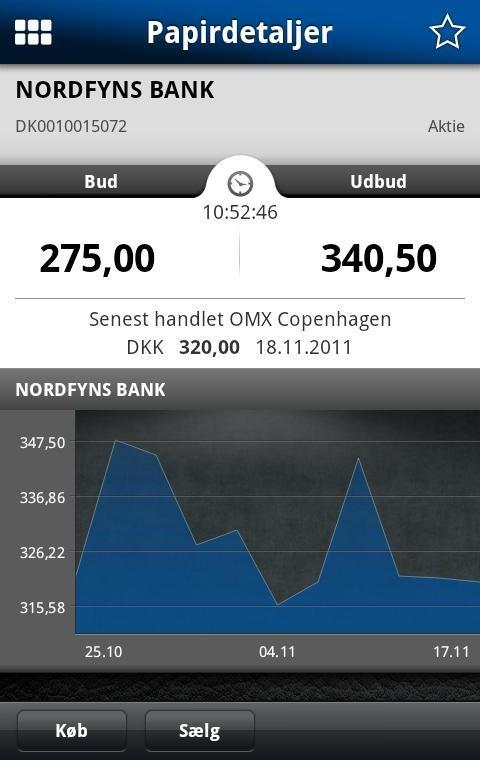 Nordfyns Banks Mobilbank - screenshot