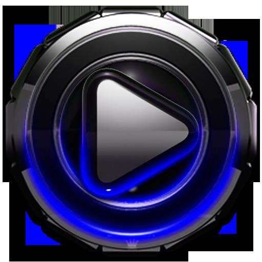 Poweramp skin Blue Glow LOGO-APP點子